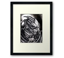 Garrus Portrait in Charcoal - Print Framed Print