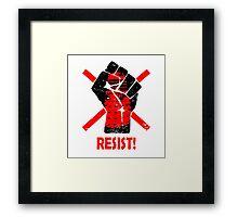 Resist the Daleks (still)! Framed Print