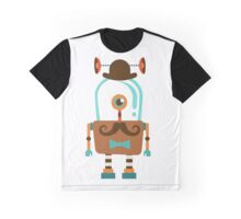 Hipster Robot Number 6 Graphic T-Shirt