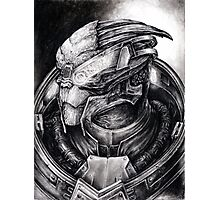 Garrus Portrait in Charcoal 2 - Print Photographic Print