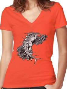 Kentrosaurus Women's Fitted V-Neck T-Shirt
