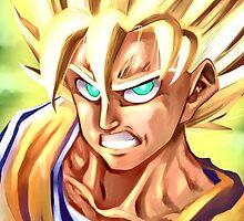 Golden Warrior: SSJ Goku by 321comics