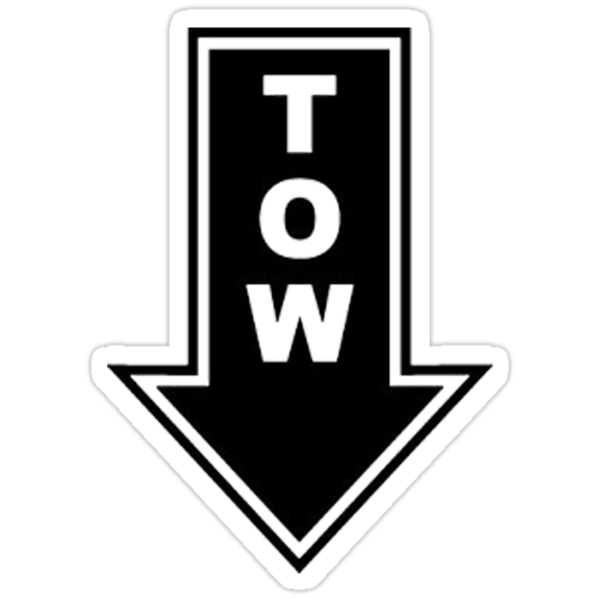 TOW black sticker by Tony  Bazidlo