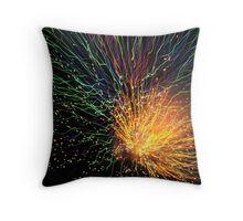 Firework Sunburst Throw Pillow