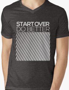 START OVER - DO BETTER Typography TEXT Mens V-Neck T-Shirt