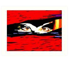 Voodoo Eyes Art Print