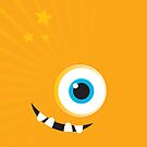 IPhone :: one-eyed monster face grin - orange by Kat Massard