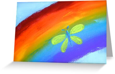 Rainbow Butterfly by Michelle Ricketts
