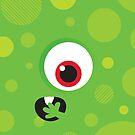 IPhone :: one-eyed monster face shock - green by Kat Massard