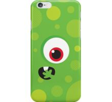 IPhone :: one-eyed monster face shock - green iPhone Case/Skin