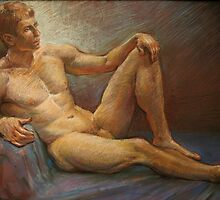 Male figure on the floor. by Malish