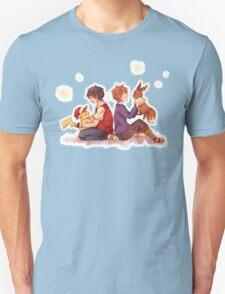 pokemon ash gary pikachu evee T-Shirt
