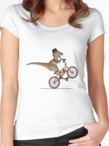 Dino Bike Women's Fitted Scoop T-Shirt