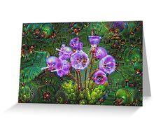 Purple Wildflower Machine Dreams Greeting Card
