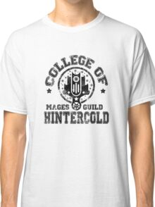 College of Hintercold - Black Classic T-Shirt