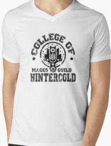 College of Hintercold - Black Mens V-Neck T-Shirt