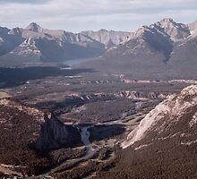 Bow Valley from Sulphur Mountain 196106220757  by Fred Mitchell