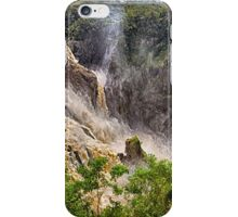Nature's power in a waterfall iPhone Case/Skin