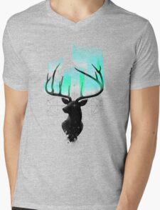 Northern Lights Mens V-Neck T-Shirt