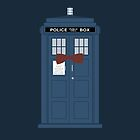 Doctor Who bow tie TARDIS eleventh doctor  by nouvellegamine