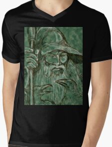 Interpretation of Gandalf Mens V-Neck T-Shirt