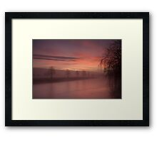 The River Eden At Lazonby Framed Print