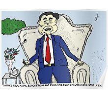 Chine sur Black Friday en caricature Poster
