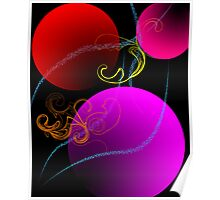 Colored Baubles Poster