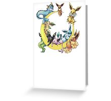 pokemon evee collection Greeting Card