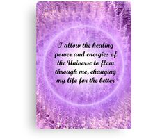 Affirmations 1 Canvas Print