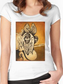Mammoth Ting ( Sepia ) Women's Fitted Scoop T-Shirt