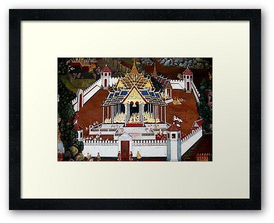Grand Palace Bangkok Thailand 4 by Terry Jorgensen