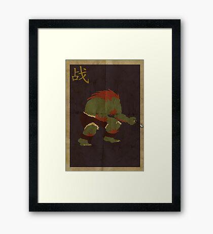 FIGHT: Street Fighter #2: Blanka Framed Print
