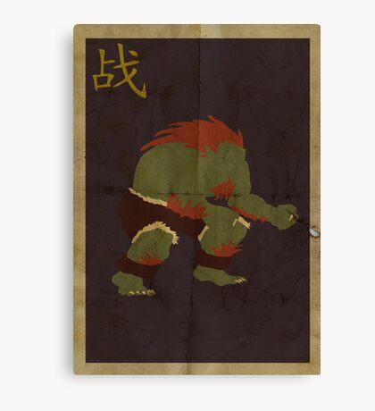 FIGHT: Street Fighter #2: Blanka Canvas Print
