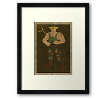 FIGHT: Street Fighter #2: Guile Framed Print