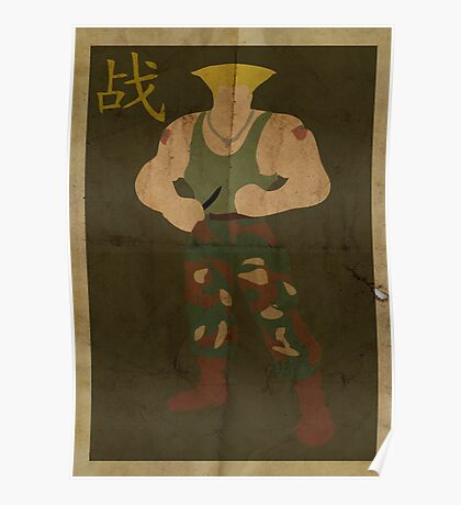 FIGHT: Street Fighter #2: Guile Poster