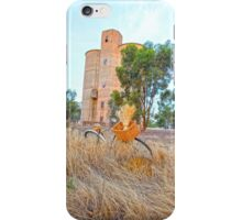 Old Grain Silo & Vintage Bike. iPhone Case/Skin