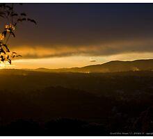 Sunset Over Grasse (1) by stephane j. allier