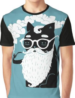 Whiskers And Pipe Graphic T-Shirt