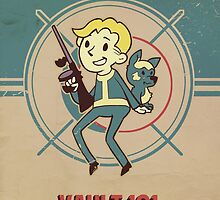 Fallout Vault Kid with Dogmeat by xephia