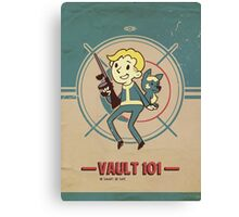 Fallout Vault Kid with Dogmeat Canvas Print