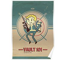 Fallout Vault Kid with Dogmeat Poster