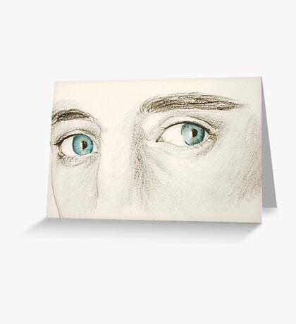 Tom Hiddleston's Eyes Greeting Card