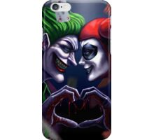 Harley Quinn And Joker Love you iPhone Case/Skin
