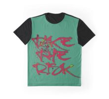 Take the Risk cool Typography Graffiti Graphic T-Shirt