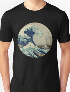 Great Wave off Kanagawa circle T-Shirt