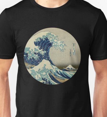 Great Wave off Kanagawa circle Unisex T-Shirt