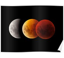 Lunar Eclipse - Three Moons Poster