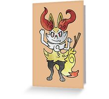 Pokemon - Braixen Greeting Card