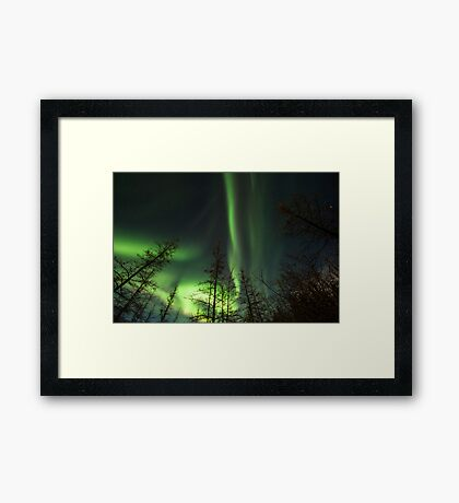 Yukon Northern Lights 1 Framed Print